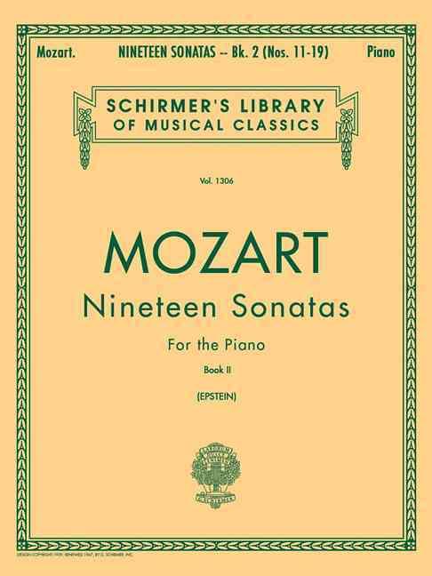 19 Sonatas - Book 2 By Mozart, Wolfgang Amadeus (COP)/ Epstein, Richard (EDT)